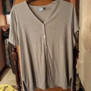 Grey Buttoned Up T-Shirt Size 22-24